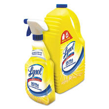 Lysol Ultra Deep Clean All-Purpose Cleaner, Lemon Breeze Scent (32oz.Bottle plus144oz.Refill Bottle)