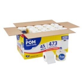 POM Bath Tissue, 2 Ply (473 sheets, 45 rolls)