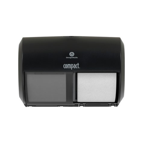Compact® 2-Roll Side-by-Side Coreless Toilet Paper Dispenser by GP PRO
