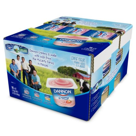 Dannon Creamy Yogurt - 6 oz. each - 18 ct.