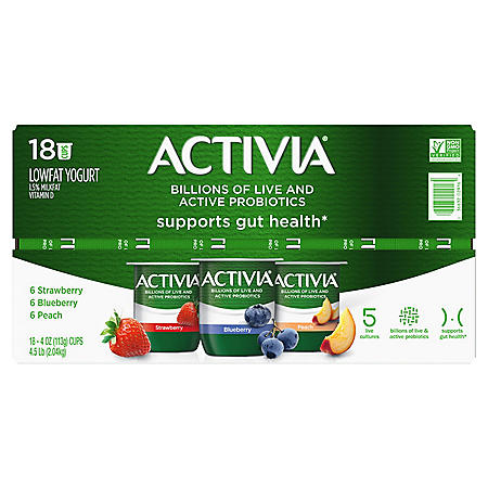 Activia Probiotic Yogurt Variety Pack (4 oz., 18 pk.)