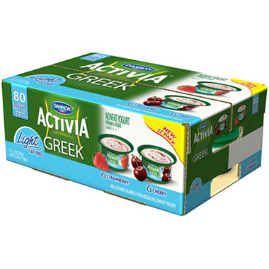 Dannon Activia Greek Light Yogurt, Variety Pack (5.3 oz cup., 12 ct.)