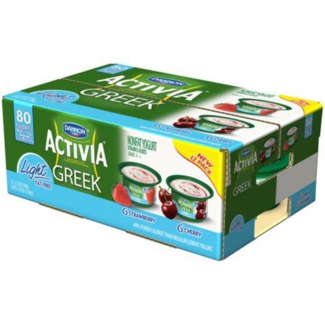 Dannon Activia Greek Light Yogurt, Variety Pack (5.3 oz cup., 12 ct.)