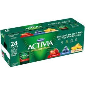 Activia Probiotic Yogurt Variety Pack (4 oz., 24 pk.)