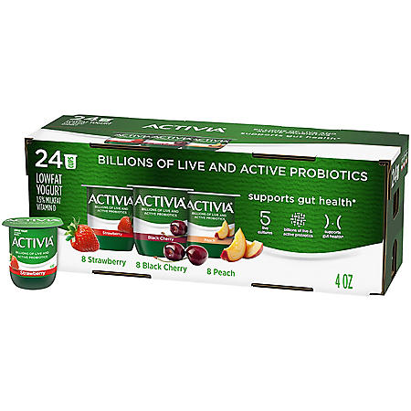 Activia Probiotic Lowfat Yogurt, Variety Pack (24 ct.)