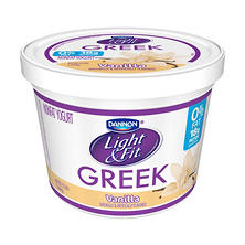 Dannon Light & Fit Greek Blended Nonfat Vanilla Yogurt (48 oz.)