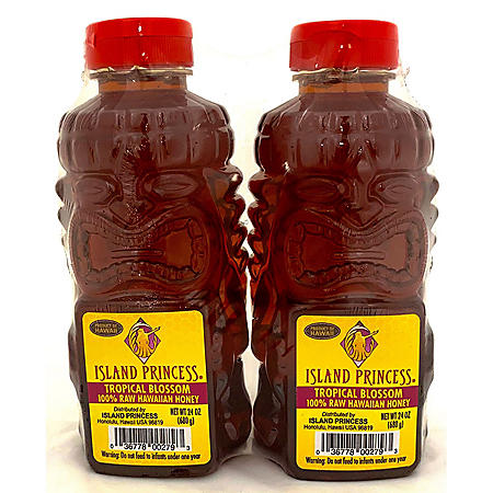 Island Princess 100% Raw Hawaiian Honey, Tropical Blossom (24 oz., 2 pk.)
