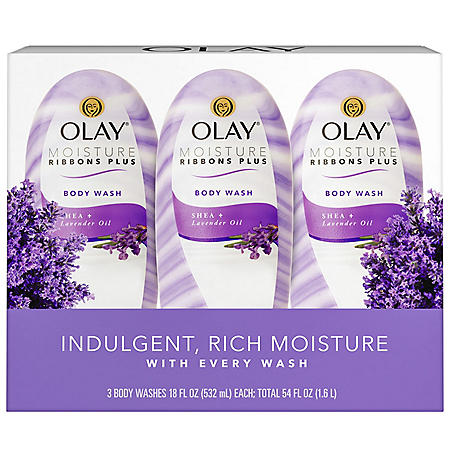 Olay Moisture Ribbons Plus Shea + Lavender Oil Body Wash (18 fl. oz., 3pk.)