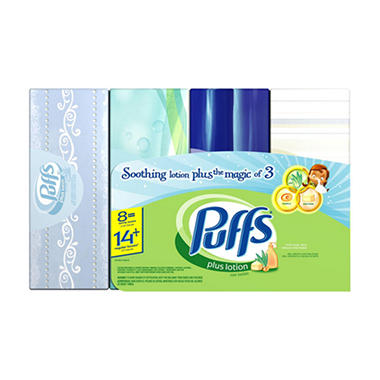 Puffs Plus Family 8 Pack
