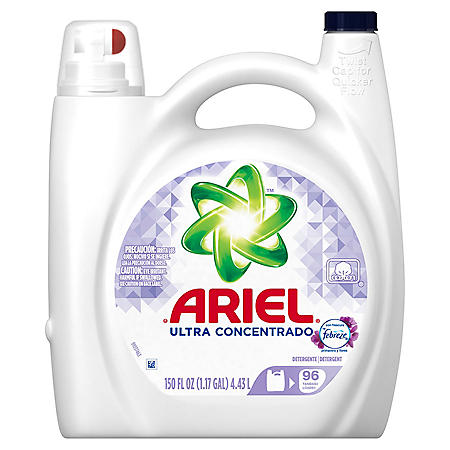 Ariel Ultra Concentrated Detergent with Febreze (150 oz.)