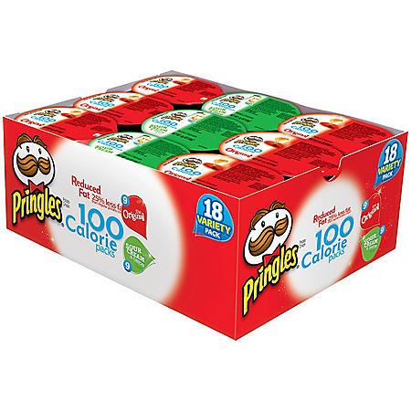 Pringles 100 Calorie Variety Pack - 18 pk.