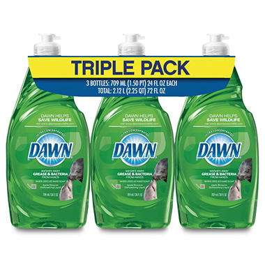 Dawn Ultra Antibacterial Dish Detergent - Apple Blossom Scent - 3 pk./24 oz.