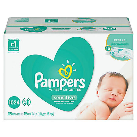 Pampers Sensitive Baby Wipes (1024 ct.)