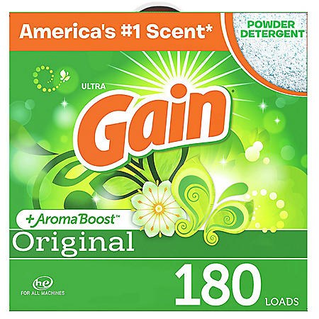 Gain Ultra Powder Laundry Detergent, Original (206 oz., 180 loads)