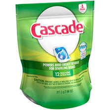 Cascade Fresh Scent Dishwaser Detergent Packs (12 ct.)
