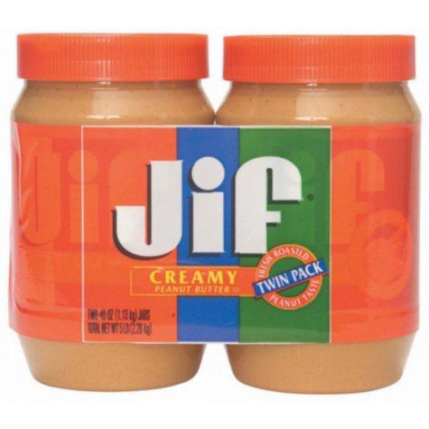 Jif Creamy Peanut Butter (40 oz., 2 pk.)