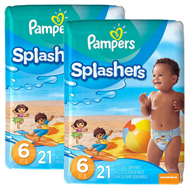 Pampers Splashers Swimpants 2-Pack (Choose Your Size)