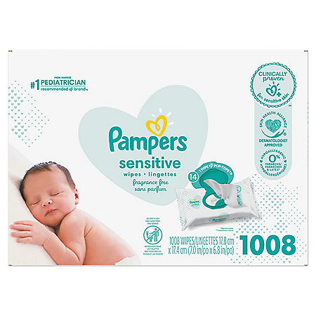Pampers Sensitive Baby Wipes (1008 ct.)