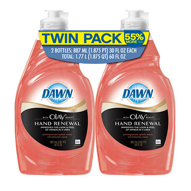 Dawn Hand Renewal with Olay Beauty - 30 oz. - 2 pk.
