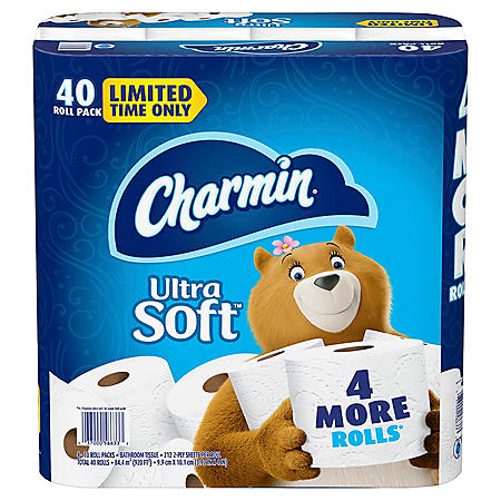 Charmin Ultra Soft Toilet Paper, 40 Rolls Bath Tissue, 212 Sheets Per Roll