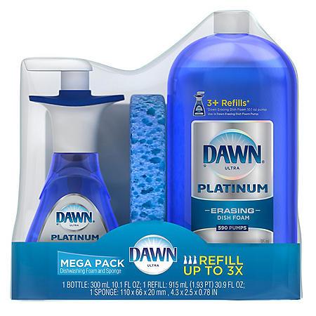 Dawn Ultra Platinum Dishwashing Foam Mega Pack