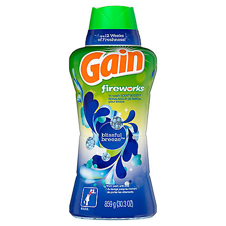 Gain Fireworks In-Wash Scent Booster Beads, Blissful Breeze (30.3 oz.)