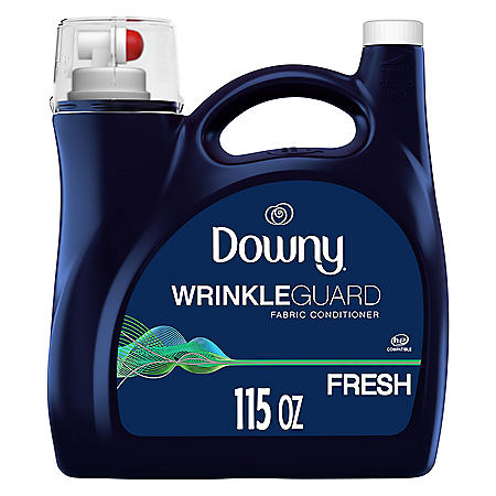 Downy WrinkleGuard Liquid Fabric Softener and Conditioner, Fresh, 115 fl oz. Bottle