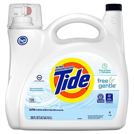 Tide Free and Gentle Liquid Laundry Detergent (158 loads, 208 fl. oz.)