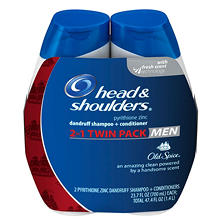 Head & Shoulders 2-in-1 Dandruff Shampoo & Conditioner, Old Spice (23.7 fl. oz., 2 pk.)
