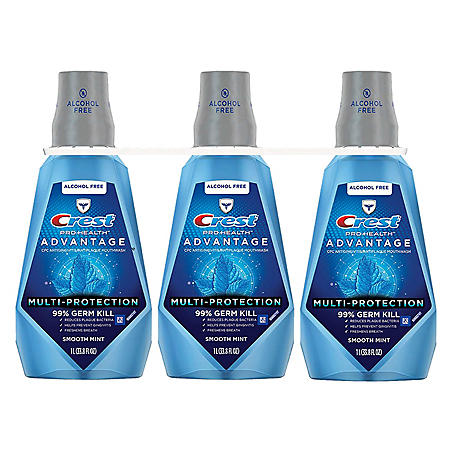 Crest ProHealth Advantage Rinse, Smooth Mint (33.8 fl. oz., 3 pk.)