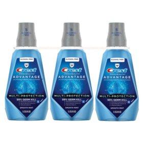 Crest ProHealth Advantage Rinse, Smooth Mint (33.8 fl. oz., 3 pk.)