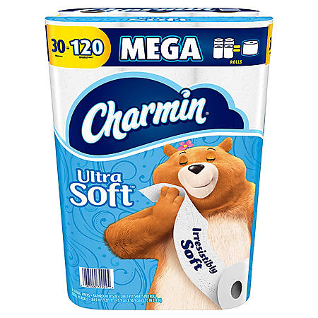 Charmin Ultra Soft Toilet Paper Mega Rolls, Bath Tissue (30 rolls, 284 sheets per roll)