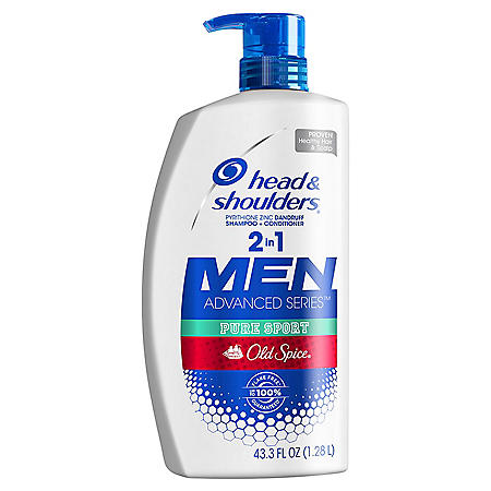 Head & Shoulders Men 2-in-1 Dandruff Shampoo & Conditioner, Old Spice Pure Sport  (43.3 fl. oz.)
