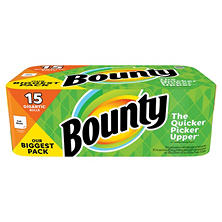 Bounty Paper Towels 15 Gigantic Rolls