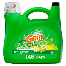Gain +AromaBoost Ultra Concentrated Liquid Laundry Detergent, Original, (146 lds, 200 oz.)
