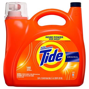 Costco Auto Program >> Tide Ultra Concentrated Liquid Laundry Detergent, Original, (146 lds, 200 oz.) - Sam's Club