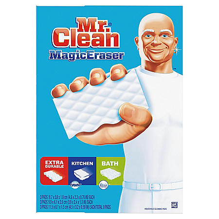 Mr. Clean Magic Eraser Sponge Variety Pack & Tub Cleaner (9 ct.)