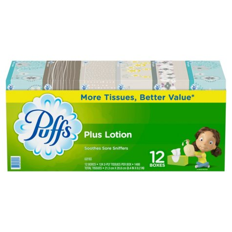 Puffs Plus Lotion Facial Tissues (12 pk.)