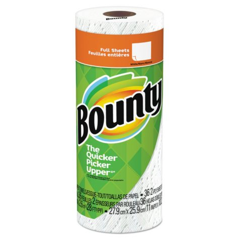 Bounty Perforated Towel Rolls, 2-Ply (36 sheets per roll, 30 rolls)
