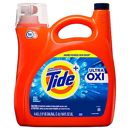 Tide Ultra Oxi HE Liquid Laundry Detergent (110 Loads, 150 oz .)