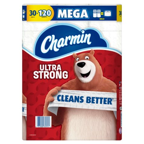 Charmin Ultra Strong Toilet Paper 30 Mega Roll (286 sheets per roll)