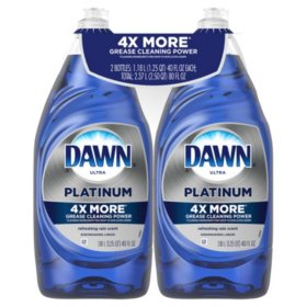 Dawn Platinum Dishwashing Liquid Dish Soap, Refreshing Rain (40 oz., 2 pk.)