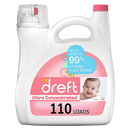 Dreft Ultra Concentrated Liquid Laundry Detergent (110 loads, 150 fl oz)