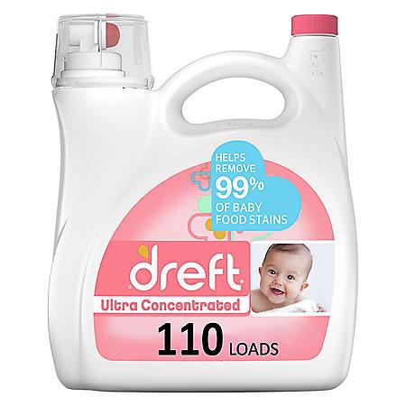 Dreft Ultra Concentrated Liquid Laundry Detergent (110 loads, 150 fl oz)