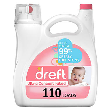 Dreft Ultra Concentrated Liquid Laundry Detergent 110
