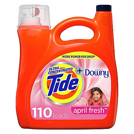 Tide Plus Downy April Fresh Scent Liquid Laundry Detergent (150 oz, 110 loads)
