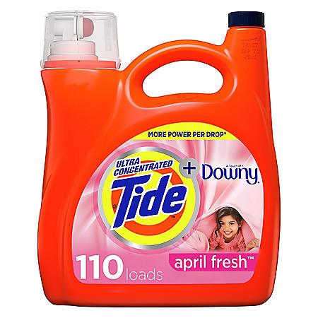 Tide Plus Downy April Fresh Scent Liquid Laundry Detergent (150 oz, 110 loads)