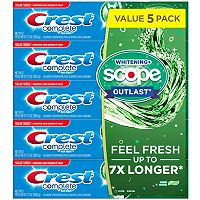 5-Pack Crest Complete Whitening Scope Toothpaste