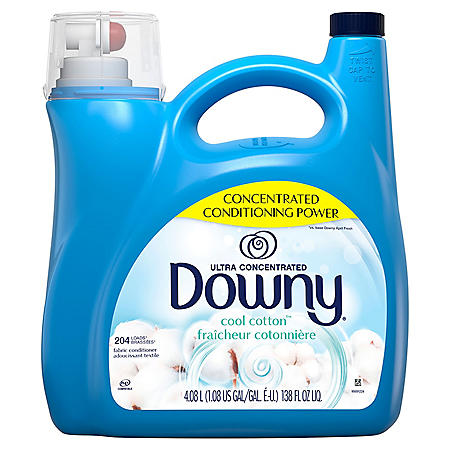 Downy Ultra Concentrated Liquid Fabric Conditioner, Cool Cotton, 138 oz.