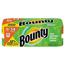 Bounty Paper Towels (15 Gigantic Rolls)